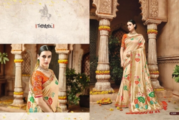 TATHASTU 12 SAREES DESIGNER HEAVY SILK SAREES ARE AVAILABLE AT WHOLESALE BEST RATE BY GOSIYA EXPORTS SURAT (10)