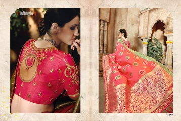 TATHASTU 12 SAREES DESIGNER HEAVY SILK SAREES ARE AVAILABLE AT WHOLESALE BEST RATE BY GOSIYA EXPORTS SURAT (14)