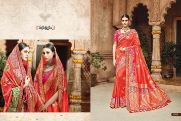 TATHASTU 12 SAREES DESIGNER HEAVY SILK SAREES ARE AVAILABLE AT WHOLESALE BEST RATE BY GOSIYA EXPORTS SURAT (16)