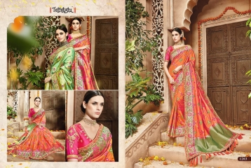 TATHASTU 12 SAREES DESIGNER HEAVY SILK SAREES ARE AVAILABLE AT WHOLESALE BEST RATE BY GOSIYA EXPORTS SURAT (18)