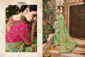 TATHASTU 12 SAREES DESIGNER HEAVY SILK SAREES ARE AVAILABLE AT WHOLESALE BEST RATE BY GOSIYA EXPORTS SURAT (19)