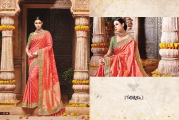 TATHASTU 12 SAREES DESIGNER HEAVY SILK SAREES ARE AVAILABLE AT WHOLESALE BEST RATE BY GOSIYA EXPORTS SURAT (2)