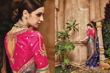 TATHASTU 12 SAREES DESIGNER HEAVY SILK SAREES ARE AVAILABLE AT WHOLESALE BEST RATE BY GOSIYA EXPORTS SURAT (4)