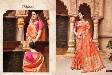 TATHASTU 12 SAREES DESIGNER HEAVY SILK SAREES ARE AVAILABLE AT WHOLESALE BEST RATE BY GOSIYA EXPORTS SURAT (5)