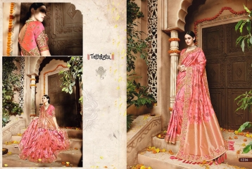 TATHASTU 12 SAREES DESIGNER HEAVY SILK SAREES ARE AVAILABLE AT WHOLESALE BEST RATE BY GOSIYA EXPORTS SURAT (6)
