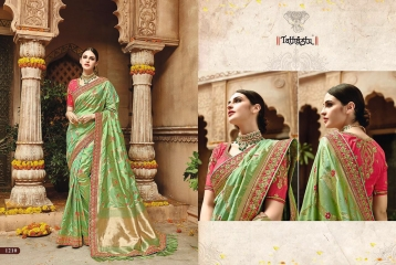 TATHASTU 12 SAREES DESIGNER HEAVY SILK SAREES ARE AVAILABLE AT WHOLESALE BEST RATE BY GOSIYA EXPORTS SURAT (9)