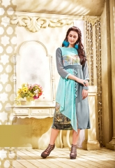 THE DESIGNER MEEM VOL 3 CATALOG FAUX GEORGETTE EMBROIDERED PARTY WEAR KURTIS (3)