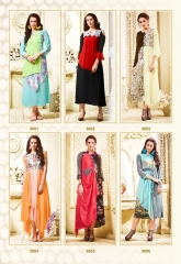 THE DESIGNER MEEM VOL 3 CATALOG FAUX GEORGETTE EMBROIDERED PARTY WEAR KURTIS (4)