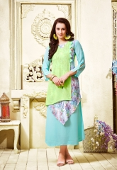 THE DESIGNER MEEM VOL 3 CATALOG FAUX GEORGETTE EMBROIDERED PARTY WEAR KURTIS (6)