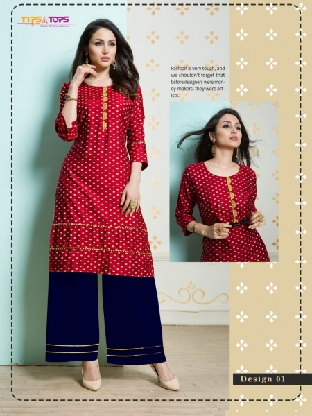 TIP AND TOPS ZURI COTTON FABRIC TOP WITH PALAZZO WHOLESALE DEALER BEST RATE BY GOSIYA EXPORTS SURAT (3)