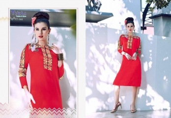 TITLI BELLAZ RAYON DIGITAL PRINT KURTI WHOLESALE RATE AT GOSIYA EXPORTS SUART WHOLESALE DEALER AND SUPPLAYER AT SURAT GUJARAT (8)