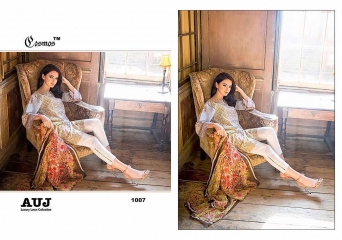 TM COSMOS AUJ LUXURY LAWN SALWAR KAMEEZ COLLECTION WHOLESALE BY GOSIYA EXPORTS (6)