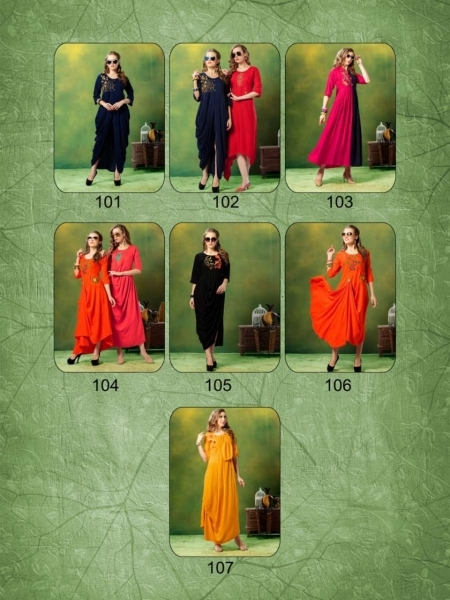 TRENDY UNIQUE LOOKK HEAVY RAYON FABRIC WITH EMBROIDERY WORK (1)
