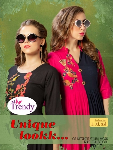 TRENDY UNIQUE LOOKK HEAVY RAYON FABRIC WITH EMBROIDERY WORK (10)