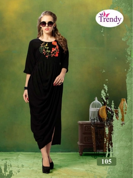 TRENDY UNIQUE LOOKK HEAVY RAYON FABRIC WITH EMBROIDERY WORK (5)