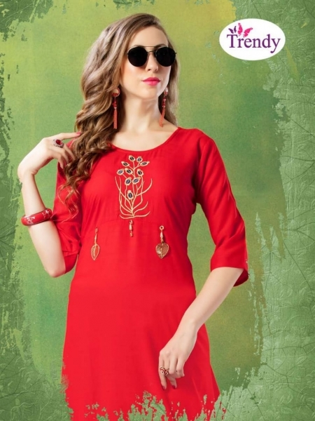 TRENDY UNIQUE LOOKK HEAVY RAYON FABRIC WITH EMBROIDERY WORK (8)