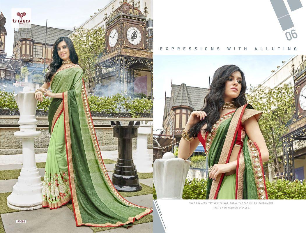 Gosiya Exports Triveni Jhumri 10 Designer Party Wear Sarees Wholesale Best Rate By Gosiya Exports Surat