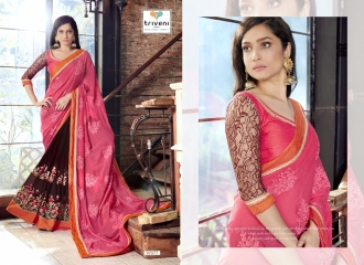 TRIVENI JHUMRI VOL 9 EXCLUSIVE FANCY SAREE CATALOG AT BEST RATE BY GOSIYA EXPORTS SURAT (8)