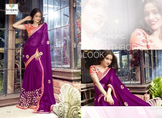 TRIVENI JHUMRI VOL 9 EXCLUSIVE FANCY SAREE CATALOG AT BEST RATE BY GOSIYA EXPORTS SURAT (9)