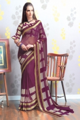 TRIVENI MARIA GEORGETTE PRINTS SAREES COLLECTION WHOLESALE BEST RATE SUPPLIER SELLER BY GOSIYA EXPORTS SURAT (2)
