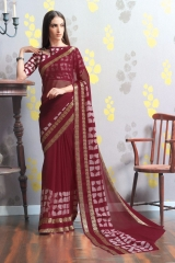 TRIVENI MARIA GEORGETTE PRINTS SAREES COLLECTION WHOLESALE BEST RATE SUPPLIER SELLER BY GOSIYA EXPORTS SURAT (7)