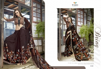 TRIVENI RANJHANA VOL 2 GEORGETTE PRINTS CASUAL WEAR SAREES COLLECTION WHOLESALE BEST RATE BY GOSIYA EXPORTS SURAT (11)