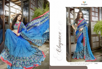 TRIVENI RANJHANA VOL 2 GEORGETTE PRINTS CASUAL WEAR SAREES COLLECTION WHOLESALE BEST RATE BY GOSIYA EXPORTS SURAT (12)