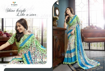 TRIVENI RANJHANA VOL 2 GEORGETTE PRINTS CASUAL WEAR SAREES COLLECTION WHOLESALE BEST RATE BY GOSIYA EXPORTS SURAT (3)