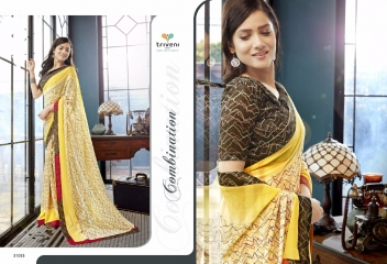 TRIVENI RANJHANA VOL 2 GEORGETTE PRINTS CASUAL WEAR SAREES COLLECTION WHOLESALE BEST RATE BY GOSIYA EXPORTS SURAT (5)