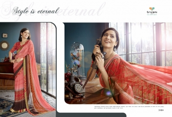 TRIVENI RANJHANA VOL 2 GEORGETTE PRINTS CASUAL WEAR SAREES COLLECTION WHOLESALE BEST RATE BY GOSIYA EXPORTS SURAT (6)