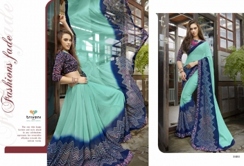 TRIVENI RANJHANA VOL 2 GEORGETTE PRINTS CASUAL WEAR SAREES COLLECTION WHOLESALE BEST RATE BY GOSIYA EXPORTS SURAT (7)