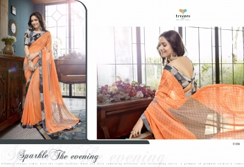 TRIVENI RANJHANA VOL 2 GEORGETTE PRINTS CASUAL WEAR SAREES COLLECTION WHOLESALE BEST RATE BY GOSIYA EXPORTS SURAT (8)