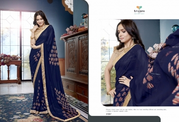 TRIVENI RANJHANA VOL 2 GEORGETTE PRINTS CASUAL WEAR SAREES COLLECTION WHOLESALE BEST RATE BY GOSIYA EXPORTS SURAT (9)