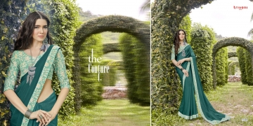 TRIVENI SHAYNA 5 GEORGETTE CHIFFON FABRICS CASUAL SAREES COLLECTION WHOLESALE BEST RATE BY GOSIYA EXPORTS SURAT (10)