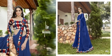 TRIVENI SHAYNA 5 GEORGETTE CHIFFON FABRICS CASUAL SAREES COLLECTION WHOLESALE BEST RATE BY GOSIYA EXPORTS SURAT (6)