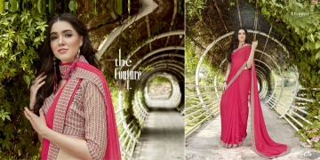 TRIVENI SHAYNA 5 GEORGETTE CHIFFON FABRICS CASUAL SAREES COLLECTION WHOLESALE BEST RATE BY GOSIYA EXPORTS SURAT (9)
