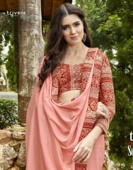 TRIVENI SHAYNA 5 GEORGETTE CHIFFON FABRICS CASUAL SAREES COLLECTION WHOLESALE BEST RATE BY GOSIYA EXPORTS SURAT