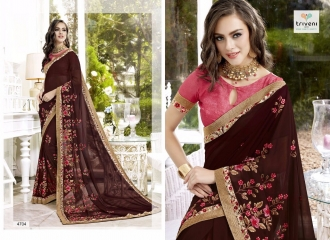 TRIVENI TRISHLA ELEGANT PRINTED SAREE TRIVENI CATALOG IN WHOLESALE BEST ARTE BY GOSIYA EXPORTS SURAT (4)