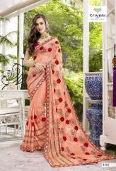 TRIVENI TRISHLA ELEGANT PRINTED SAREE TRIVENI CATALOG IN WHOLESALE BEST ARTE BY GOSIYA EXPORTS SURAT