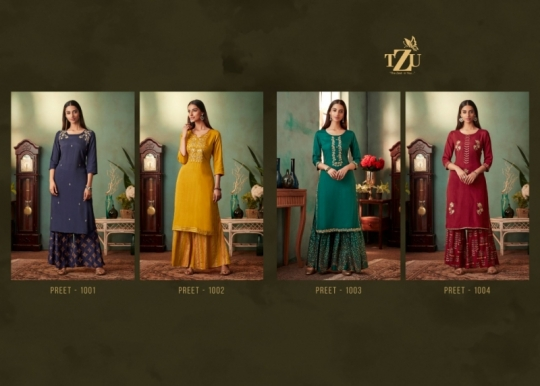 TZU FASHION MANVASI MASLIN FABRIC SILK TOP WITH SHARARA PLAZZO WHOLESALE DEALER BEST RATE BY GOSIYA EXPORTS SURAT (3)