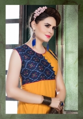 UNIQUE SAFARI CATALOG BY HETVI COTTON CAMBRIC PRINTS KURTIS WHOLESALE DEALER BEST RATE BY GOSIYA EXPORTS SURAT