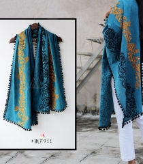 UNISEX RICH EMBROIDERY DUPATTA WITH DAZZLING LESS WHOLESALE BEST RATE BY GOSIYA EXPORTS SURAT (11)