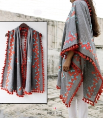 UNISEX RICH EMBROIDERY DUPATTA WITH DAZZLING LESS WHOLESALE BEST RATE BY GOSIYA EXPORTS SURAT (14)