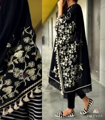 UNISEX RICH EMBROIDERY DUPATTA WITH DAZZLING LESS WHOLESALE BEST RATE BY GOSIYA EXPORTS SURAT (15)