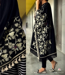 UNISEX RICH EMBROIDERY DUPATTA WITH DAZZLING LESS WHOLESALE BEST RATE BY GOSIYA EXPORTS SURAT (17)