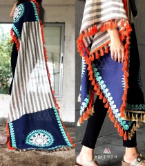 UNISEX RICH EMBROIDERY DUPATTA WITH DAZZLING LESS WHOLESALE BEST RATE BY GOSIYA EXPORTS SURAT (18)
