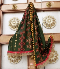 UNISEX RICH EMBROIDERY DUPATTA WITH DAZZLING LESS WHOLESALE BEST RATE BY GOSIYA EXPORTS SURAT (6)