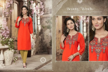 VALENCIA TEX ZOYA CATALOGUE GEORGETTE PARTY WEAR EMBROIDERED KURTI (1)