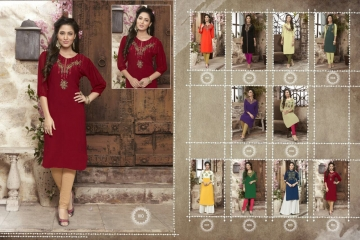 VALENCIA TEX ZOYA CATALOGUE GEORGETTE PARTY WEAR EMBROIDERED KURTI (10)