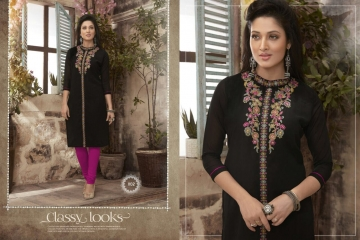 VALENCIA TEX ZOYA CATALOGUE GEORGETTE PARTY WEAR EMBROIDERED KURTI (2)